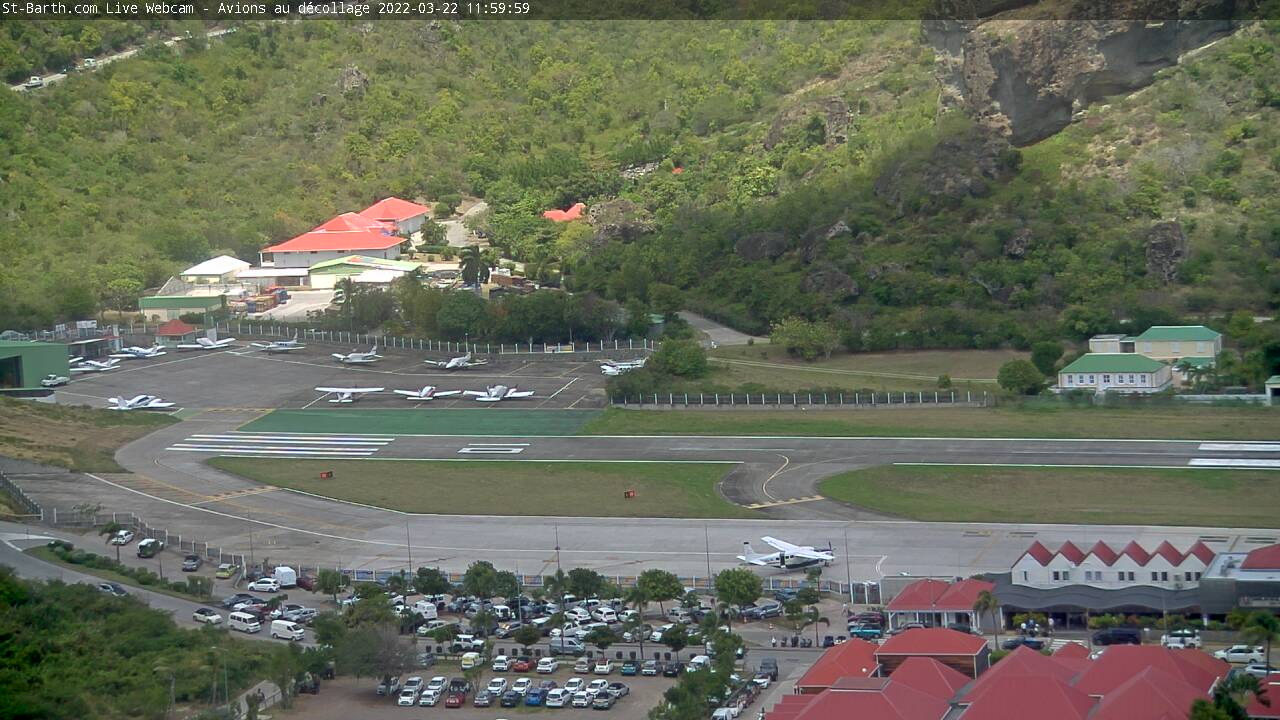 webcam Saint-Barth - Aéroport