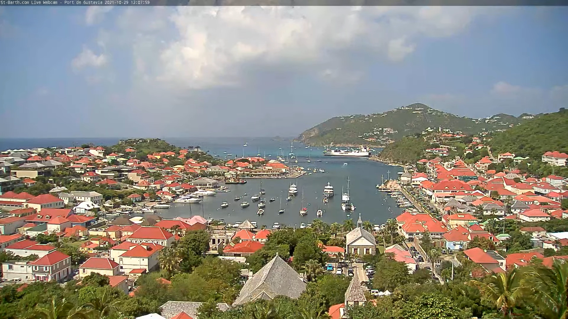 webcam St-Barth - Port de Gustavia